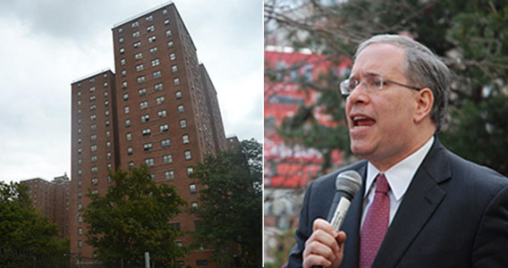 New York City Housing Authority housing and Comptroller Scott Stringer