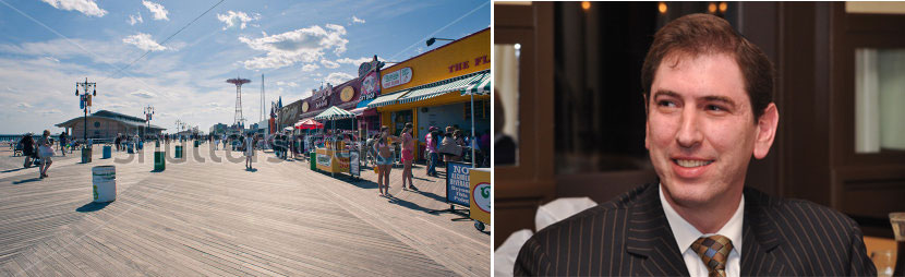 Coney Island's boardwalk and