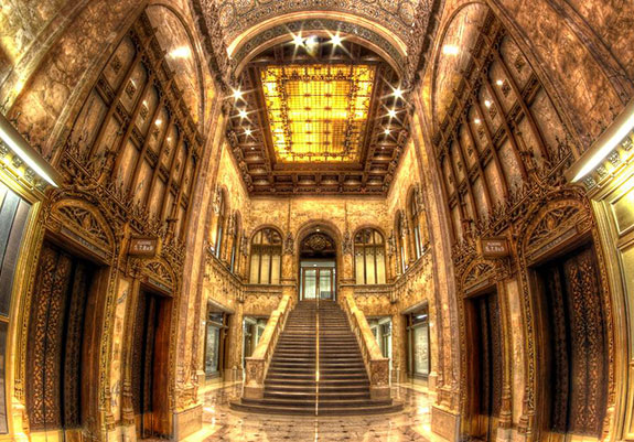 The lobby of the Woolworth Building
