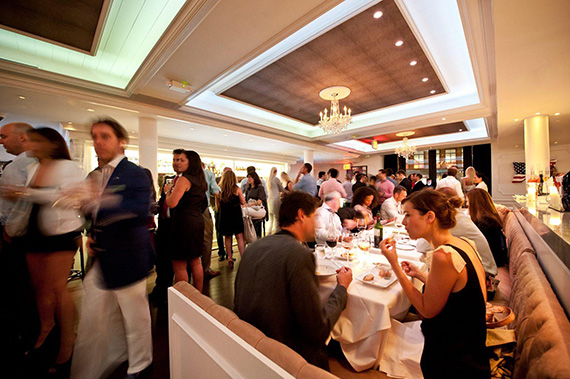Diners and revelers at Bagatelle
