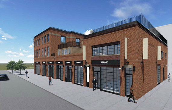 Rendering of 247 Bedford Avenue in Williamsburg (credit: Marin Architects)