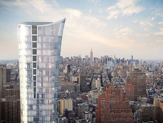 Rendering of 101 Murray Street in Tribeca (credit: KPF)