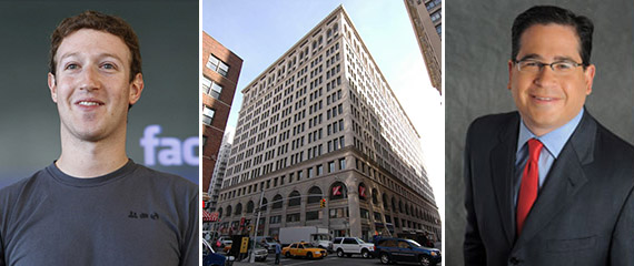From left: Mark Zuckerberg, 770 Broadway in Greenwich Village and Glen Weiss