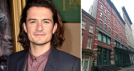 Orlando Bloom and 155 Franklin Street in Tribeca