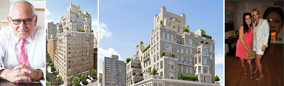 From left: Robert A.M. Stern and renderings of 20 East End Avenue (credit: Robert A.M. Stern)