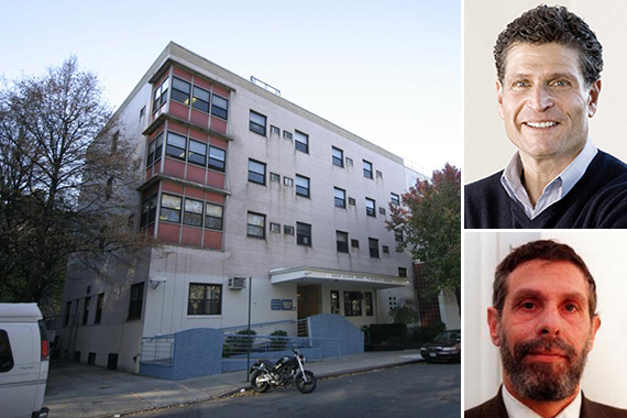 25 Bialystoker Place on the Lower East Side (inset: Peter Fine (top) and Baruch Singer)