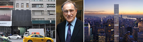 From left: 36 East 57th Street, Harry Macklowe and 432 Park Avenue