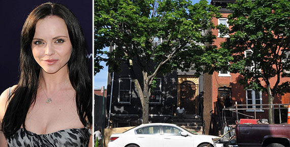 From left: Christina Ricci and 67 Adelphi Street