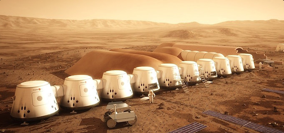 "Virgin Galactic's planned ""Mars Colony"""
