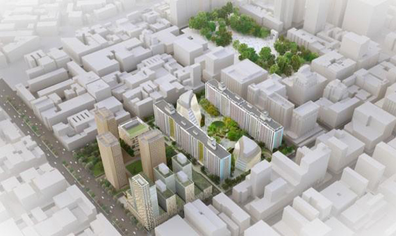 Rendering of the NYU expansion plan (credit: Toshiko Mori)