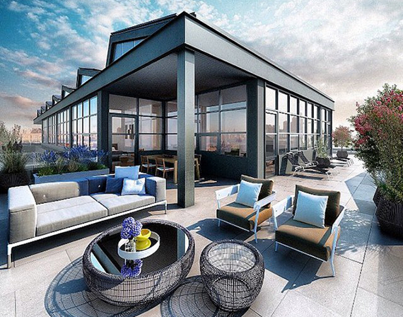 """Rendering of a """"sky house"""" unit at 338 Berry Street in Williamsburg"""