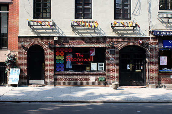 The Stonewall Inn at 53 Christopher Street in Greenwich Village