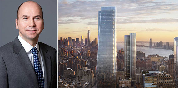 From left: Dennis Friedrich and a rendering of One Manhattan West