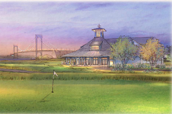 Rendering of Ferry Point clubhouse (credit: Trump Golf Links)