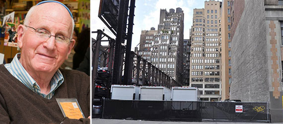 From left: Edison Properties' Jerry Gottesman and  241 West 28th Street in Chelsea, which he used to own