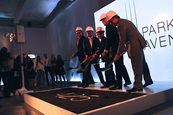 From left: Sonny Kalsi, Lord Norman Foster, Hitoshi Uemura, David Levinson and Robert Lapidus