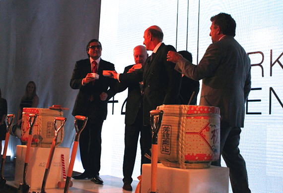 From left: Sonny Kalsi, Lord Norman Foster, David Levinson and Robert Lapidus