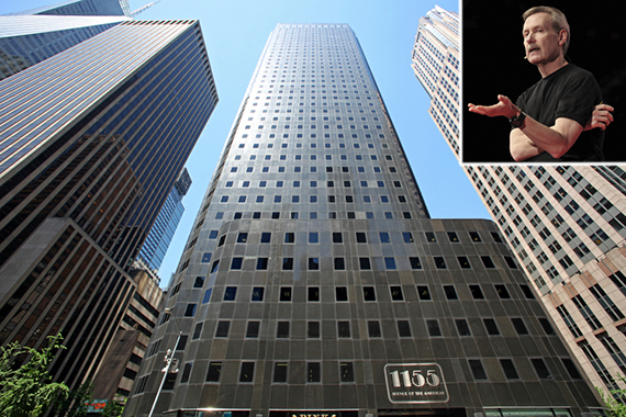 1155 Sixth Avenue in Midtown (inset: Gary Keller)