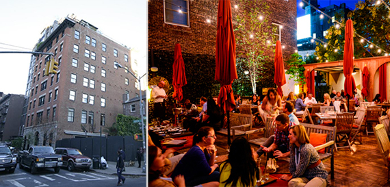 From left: 54 Thompson Street and Mediterranean restaurant Pera in Soho