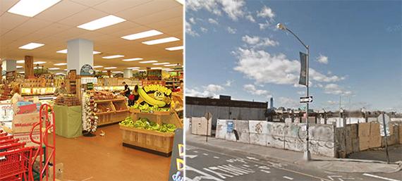 From left: Trader Joe's in Union Square and 206 Kent Avenue in Williamsburg