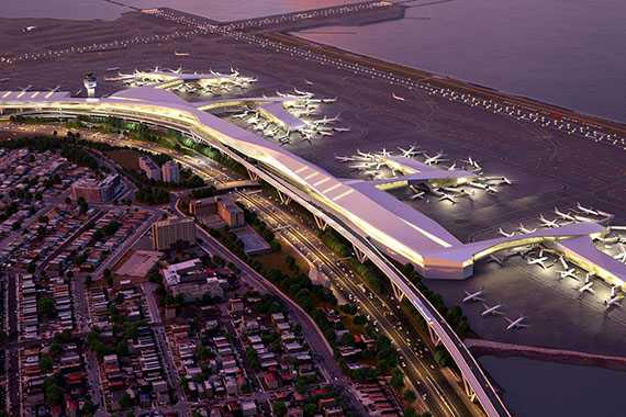 Rendering of LaGuardia Airport's redesign (credit: office of Governor Andrew Cuomo)