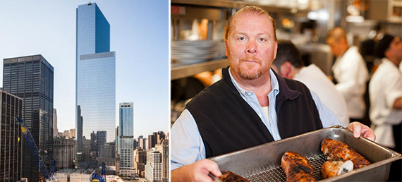 From left: 4 World Trade Center and Mario Batali