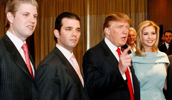 Some of the Trump clan