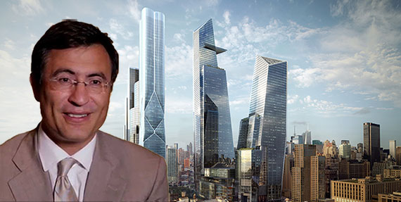 Christopher Hohn and a rendering of Hudson Yards