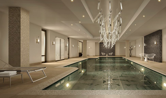 Rendering of pool at AKA Sutton Place