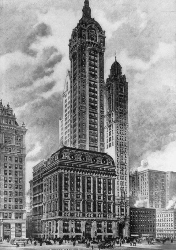 the-singer-building-in-lower-manhattan-served-as-the-headquarters-of-the-singer-manufacturing-company-and-was-completed-in-1908-it-was-demolished-60-years-later-in-1968