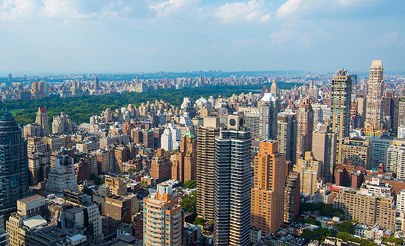 The view from the top of 252 East 57th Street (credit: Bernstein Associates)