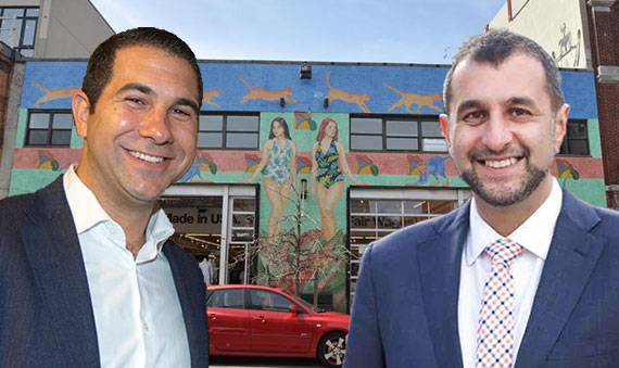 MNS Real Estate's new Brooklyn office at 102 North Sixth Street, with Andrew Barrocas and David Behin