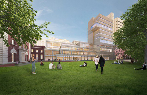Barnard's New Teaching and Learning Center at (credit: SOM)
