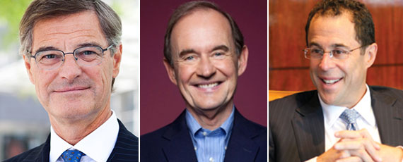 From left: Related's Jay Cross, president of Hudson Yards, David Boies, and Related CEO Jeff Blau