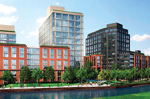 A rendering of 365 Bond Street in Gowanus