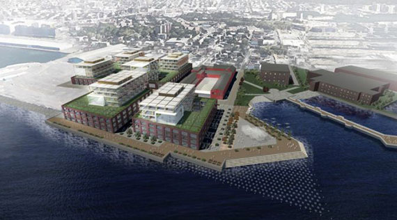 A rendering of Innovation Studios in Red Hook