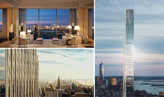 Renderings of 111 West 57th Street