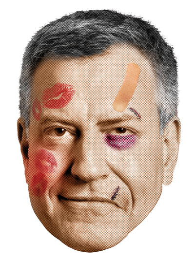 Bill de Blasio (Illustration: John Kuczala)