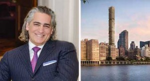 From left: Joseph Beninati and a rendering of 3 Sutton Place