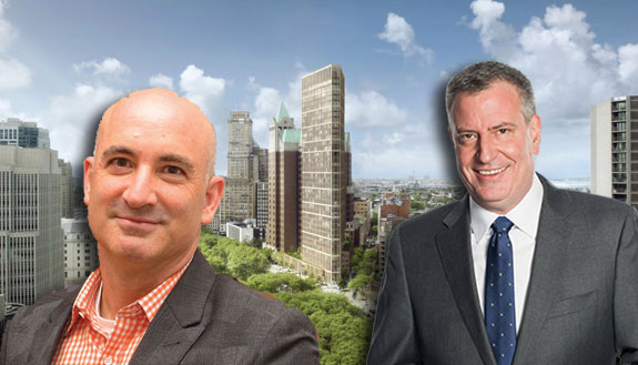 David Kramer, Bill de Blasio and the Brooklyn Heights library site
