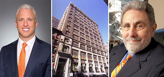 From left: Gary Green, 318 West 39th Street in the Garment District and Jeffrey Gural