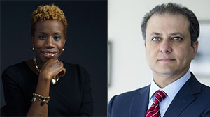 From left: NYCHA Chairwoman Shola Olatoye and Manhattan U.S. Attorney Preet Bharara