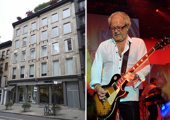 From left: 420 West Broadway in Soho and Mick Jones (credit: Abdoozy via Wikipedia)