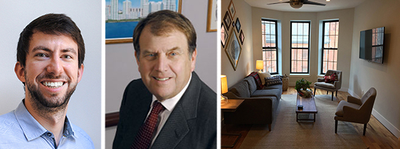 From left: Brad Hargreaves, Richard LeFrak and a Common living room in Crown Heights