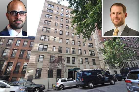 118 East 93rd Street in Carnegie Hill (inset from left: Bruno Caruso and Russell Frahm)