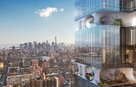 Rendering of Triangle Assets' planned residential tower at 303 East 44th Street