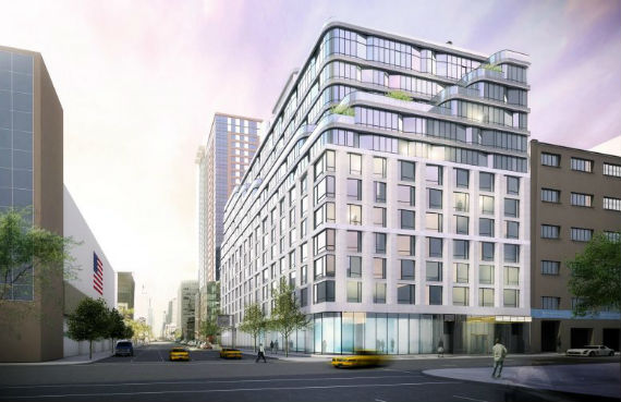 Rendering of 572 Eleventh Avenue (credit: New York YIMBY)