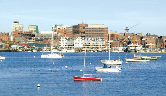 Skyline of Portland, Maine