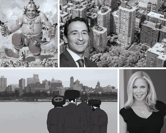 From clockwise: Andrew Cuomo, Kips Bay Court and Jonathan Gray, Wendy Maitland and the Hasidic investors and developers of Brooklyn