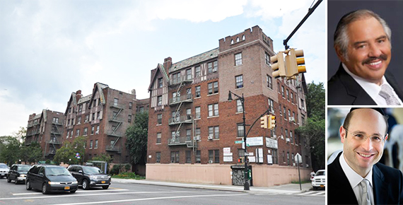 2700-2800 Bronx Park East (inset from top: Irving Langer and Ralph Herzka)